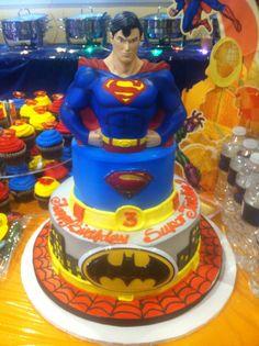 Birthday cake, super hero theme!