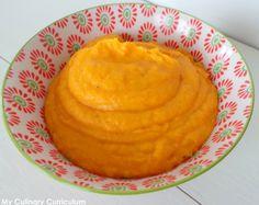 Voici une purée... Toute orange ! Je l'ai réalisée avec mon Cook Expert de Magimix mais vous pourrez aussi la réaliser sans. L'avantage d...