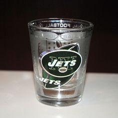 J - E - T - S JETS, JETS, JETS New York Jets Shot Glass - NFL