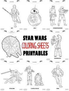 Star Wars Coloring Sheets Printables - perfect for kids activities for Star Wars Party for diy just in time for the release of The Force Awakens