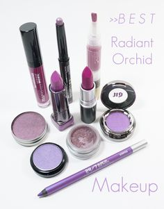 Top 10 Radiant Orchid Makeup Product. Is this a new makeup trend? I'm not sure I can get on board with this one...