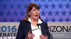 """2016 U.S. Senate debate: McCain and Kirkpatrick Oct 10 2016:  I was impressed with this debate. I wish the presidential moderators were as good as these two...they stuck to the issues; very informative. McCain admits: """"Because of Obama; ISIS is metastasizing around the World and it is in turmoil"""". McCain wants boots on the ground to """"Kill them there and kill them here"""" McCain exposes Killary and her lies and much much more.  Great Debate"""