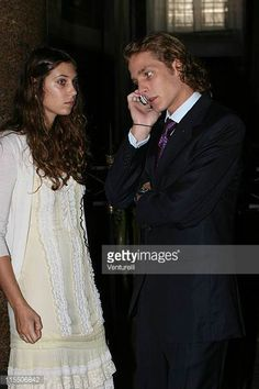 Tatiana SantoDomingo and Andrea Casiraghi during Elle Macpherson and Arpad Busson in Rome for the Baptism of their Son Aurelius cy Andrea at Basilica...