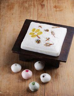 "Korean dessert - ""Jeungpyeon,"" a fermented rice cake with makgeolli"