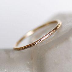 Thin 18k gold ring