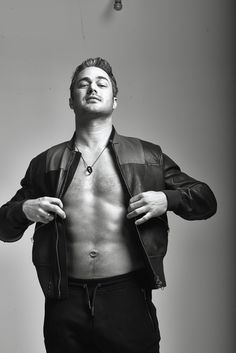 Taylor Kinney modeling in Chicago Tribute Magazine