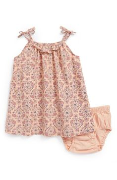 Tea Collection 'Menena' Floral Dress (Baby Girls)