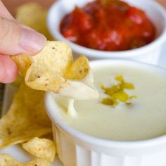 Queso Blanco Dip - Mexican Restaurant White Cheese Dip