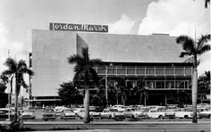Miami Herald Staff: This is how the enlarged Jordan Marsh store looks now. A career shop has been added to the men's department. Downtown Miami, Miami Florida, South Florida, Life In The 1950s, Little Havana, Coral Gables, Photo Archive, Mall, Times Square