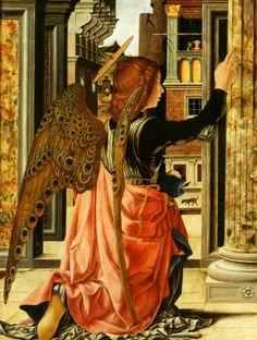 jaded-mandarin: Francesco del Cossa. Detail from The Annunciation, 1472.