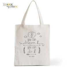 Tote Bag Rock my Citron, You can Dream It, Walt, Disney, Cadeaux Fêtes, Anniversaires