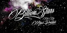 Billion Stars Schriftart | dafont.com