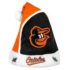 Baltimore Orioles 2015 MLB Baseball Team Logo Holiday Plush Basic Santa Hat