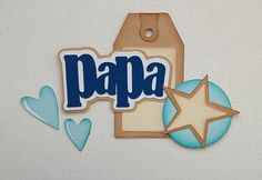 Premade Papa Title Set Paper Piecing by My Tear Bears Kira | eBay