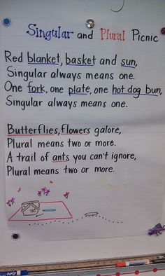 Plural and Singular Noun Song - to the tune of Hickory Dickory Dock Good jazz chant for plurals Nouns First Grade, 2nd Grade Grammar, 2nd Grade Class, 2nd Grade Writing, Grammar And Punctuation, 2nd Grade Teacher, Teaching Grammar, 3rd Grade Reading, Teaching Language Arts