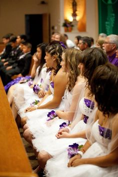 Quince court during ceremony