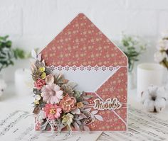 Birthday Cards For Women, Happy Birthday Cards, Diy Envelope Tutorial, Bouquet Box, Envelope Box, Altenew Cards, Floral Letters, Shaped Cards, Fun Fold Cards