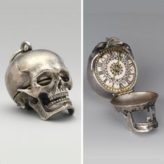 Memento Mori, Museum Collection, Japanese Artists, British Museum, Floral Motif, 17th Century, Sculptures, Skull, Hair Accessories
