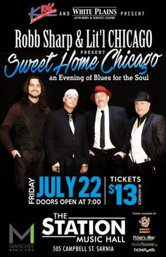Tonight a great local band will take the stage at The Station Music Hall.