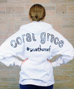Adult Hooded White Coral Grace Boyfriend Jersey