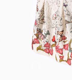 Butterflies jacquard dress from Zara