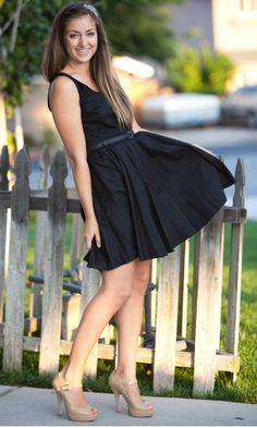 Black dress and nude shoes | TheItMom ✽ Fashion Savvy | Pinterest
