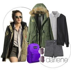[AFFORDABLE] DARLENE ALDERSON OUTFIT by moon-grrrl on Polyvore featuring polyvore, fashion, style, WithChic, Uniqlo, Torrid, clothing, characteroutfit, darlene and MrRobot
