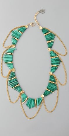 Gemma Redux  Malachite Rectangles Necklace  Style #:GREDX40011