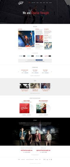 Music Band Website Template | New web templates for you to choose ...