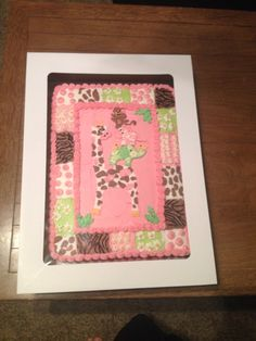 Jungle Jill baby shower cake 11x15