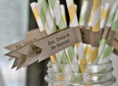 customized drinking straws with flags!