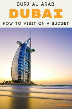 You can't visit Dubai and not experience the Burj Al Arab, the city's top luxury hotel. The only problem is that the hotel is not open to the public and the rooms start at $1,800 per night! BUT there's a way around it! Here's how to visit on a budget! Travel in the UAE. | Travel Dudes Travel Community #Travel #Dubai