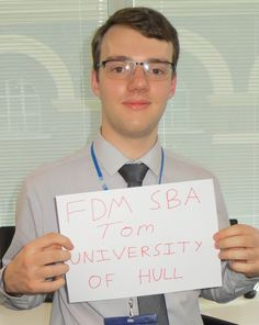 Tom is our SBA at #UniversityofHull