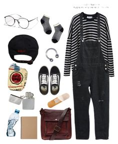 """""""stripey"""" by grosshead ❤ liked on Polyvore featuring Comme Comme, Madewell, VALLEY, Ralph Lauren, Vans, Campomaggi and Muji"""