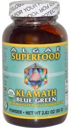 "Power Organics Klamath Blue Green Algae is a dietary supplement based on the AFA (Aphanizomenon flos-aqae) blue green algae. The product manufactured by Power Organics is advertised to be a powerful ""brain food"" which positively impact mental alertness and stamina, short and long term memory, dream recall, problem solving, creativity and a greater sense of well being."
