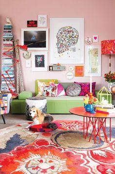 Sala de estar colorida | Eu Decoro