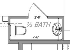 Small Half Bathroom Plan bathroom floor plan~half bath part of master bah for guests use