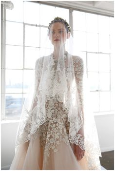 Wedding dress from the Marchesa Spring/Summer 2017 Bridal Collection. Image by FirstVIEW, courtesy of Marchesa.