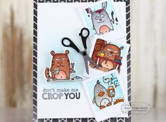 Taylored Expressions - Don't Make Me Crop You by Keia Shipp-Smith* #crafthumor #scrapbooking #grumplings #cardmaking