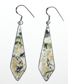 Metaphysical Gifts, Cards, Wrap and Crystals | Life Is A Gift Shop - Translucent Moss Agate Necktie-Shaped Earrings for Mysticism that goes beyond mere wealth., $47.00 (http://lifeisagiftshop.com/translucent-moss-agate-necktie-shaped-earrings-for-mysticism-that-goes-beyond-mere-wealth/)