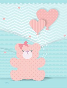 URSO LAÇO CORAÇÃO Teddy Bear Cakes, Baby Posters, Punch Art, Clipart, Baby Quilts, Tweety, Hello Kitty, Patches, Cute Animals