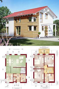 einfamilienhaus modern satteldach haus solution 125 v5 living haus fertighaus grundriss 3. Black Bedroom Furniture Sets. Home Design Ideas