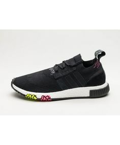 144152c8c6e41 Cheap Adidas NMD Racer PK Core Black Pink Trainers Adidas Nmd Primeknit