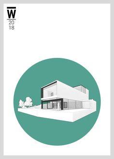 Na Míčánce Villa   V3-2   Worked On This Villa, Poster, Graphic Design, Urban, Fork, Villas, Billboard, Visual Communication