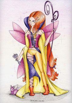 Red Elf Fairy by Alexandra Billottet