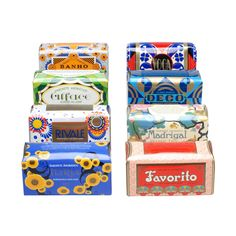 I love this portuguese soap package patterns and colors! ACH BRITO, CLAUS PORTO Deco Collection Bath Soaps