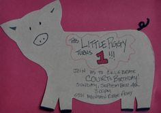 This Little Piggy Turns 1 party theme