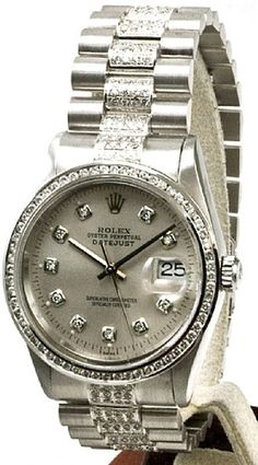 - Item Number: MANDJSDBRSLVCHL3.5CT - Brand: Rolex - Style Number: 16014 - Series: Datejust - Gender: Mens - Case Material: Stainless Steel - Case Diameter: 36mm - Dial Color/Diamond Quality: Silver C