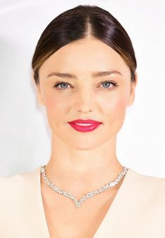 Miranda Kerr nails the pink lip trend