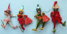 Antique Christmas Ornaments Fabric Ornaments